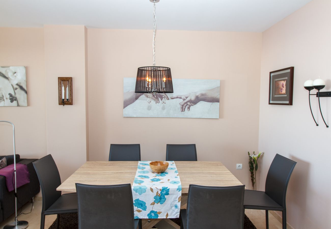 Apartment in Mijas Costa - Campos del Mar - Beautiful decorated apartment with terrace and views